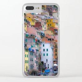 Enchanting Cinque Terre Clear iPhone Case