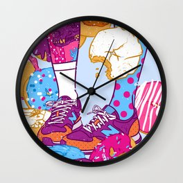 Don't step over donuts Wall Clock