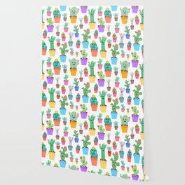 Sunny Happy Cactus Family Wallpaper