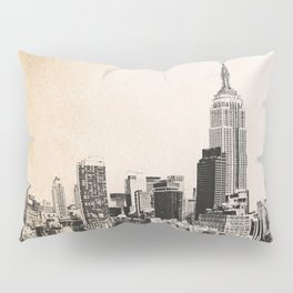 New York City Skyline Outline Pillow Sham
