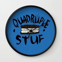 QUADRUPLE STUF Wall Clock
