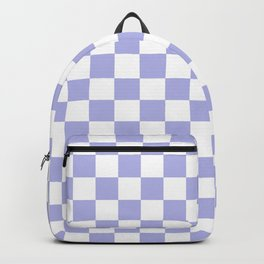Gingham Soft Lavender Blush Checked Pattern Backpack