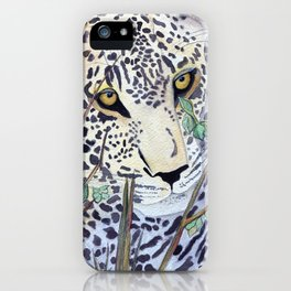 Never Resting - Leopard by Maureen Donovan iPhone Case