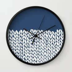 Half Knit Navy Wall Clock