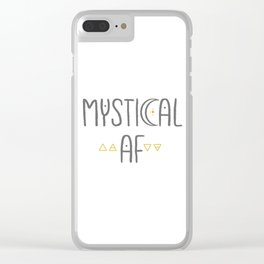 Mystical AF Clear iPhone Case
