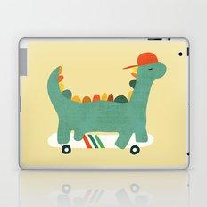 Dinosaur on retro skateboard Laptop & iPad Skin