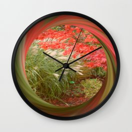 Acer and Bamboo. Wall Clock