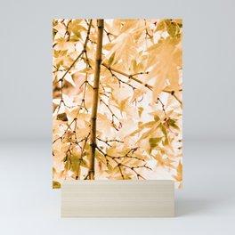 Japanese Maple Tree Leaves Mini Art Print
