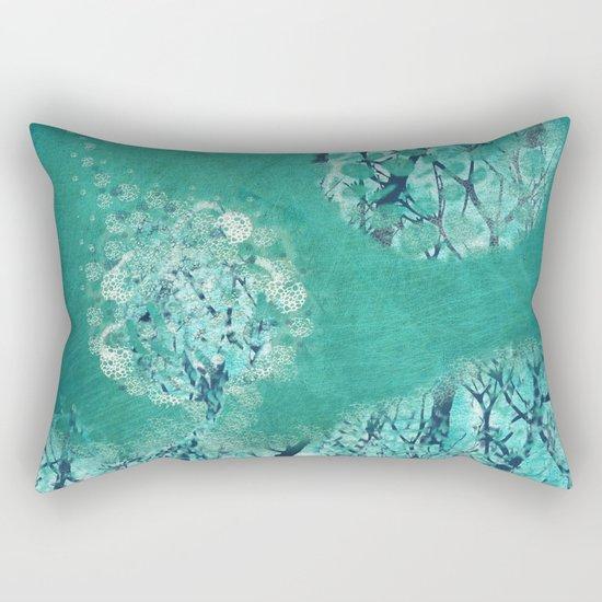 Frosty Moon Rectangular Pillow