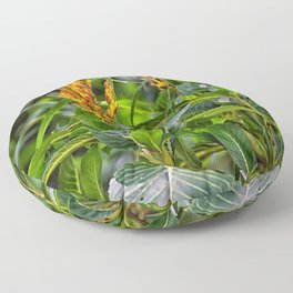 Yellow flower in the rain forest Floor Pillow