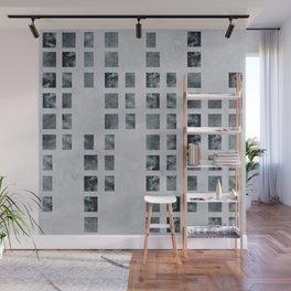 Moody Blue Check Print Wall Mural