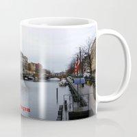 copenhagen Mugs featuring Nyhavn, Copenhagen  by Created by Eleni