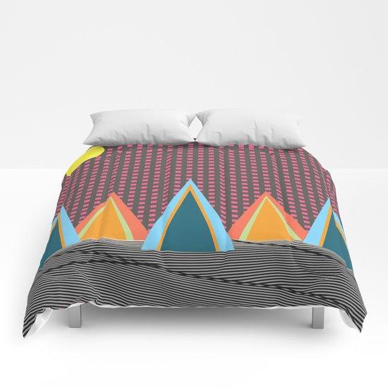 Neon Lights  Comforters