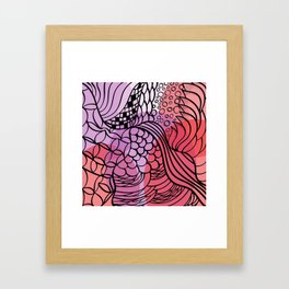 Warm spice Framed Art Print