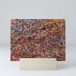 ELECTRIC 071 - Jackson Pollock style abstract design art, abstract painting Mini Art Print