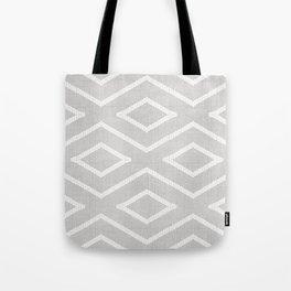 Stitch Diamond Tribal Print in Grey Tote Bag