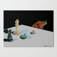 games Canvas Prints featuring Games by Moondachs.Com