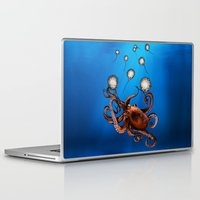 octopus Laptop & iPad Skins featuring Octopus by Anna Shell