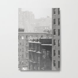 One Snow Day on 86th Street - NYC Photography Metal Print