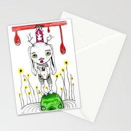 Black Rain Stationery Cards