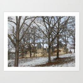 Snow on the Biltmore Art Print
