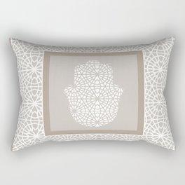 Hamsa in morrocan pattern Rectangular Pillow