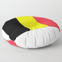 Flag of belgium-belgian,belge,belgique,bruxelles,Tintin,Simenon,Europe,Charleroi,Anvers,Maeterlinck Floor Pillow