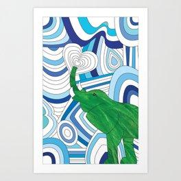 Leaf Elephant  Art Print