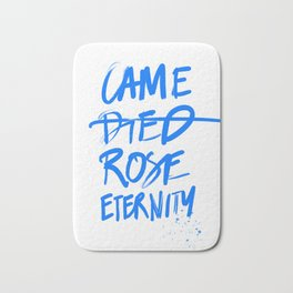 #JESUS2019 - Came Died Rose Eternity (blue) Bath Mat