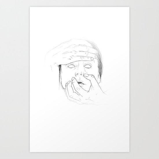 WHITEOUT - Milk Art Print