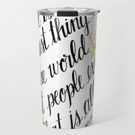 To Live Is the Rarest Thing Travel Mug
