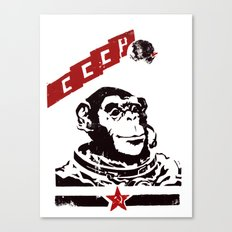 Soviet Space Monkey Canvas Print