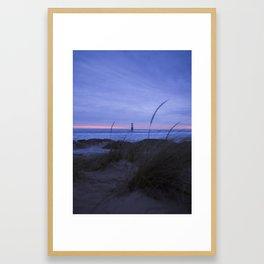 Winter Sunset | Frankfort, Michigan | John Hill Photography Framed Art Print