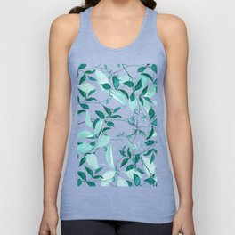 fresh green leaf pattern Unisex Tank Top