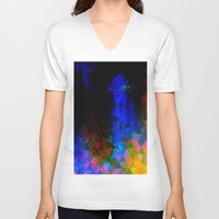 universe V-neck T-shirts featuring universe by Ivee