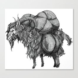 Yule Goat Canvas Print