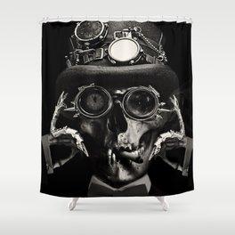 Steampunk Skull Gothic Victorian Horror Art Shower Curtain