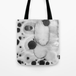 Black ink holes - in a watercolor based universe II Tote Bag