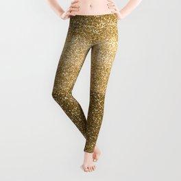 Glitter Glittery Copper Bronze Gold Leggings