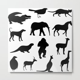 Animal Collage 2 Metal Print