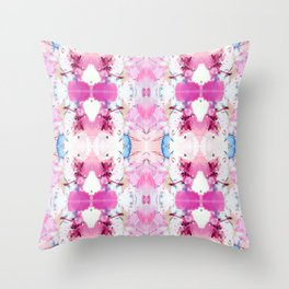 Pinky Swear (Abstract Paint Photograph) Throw Pillow