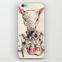 silence of the lambs iPhone & iPod Skins featuring Silence of the Lambs by Marie Toh
