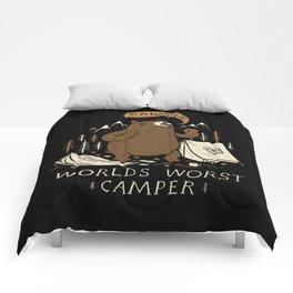 worlds worst camper Comforters