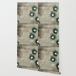 Sepia Circles Right Wallpaper