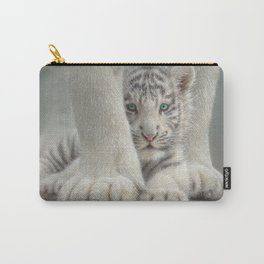White Tiger Cub - Sheltered Carry-All Pouch
