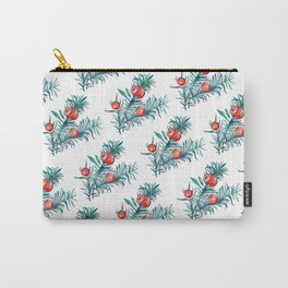 Watercolor Yew Berries Carry-All Pouch