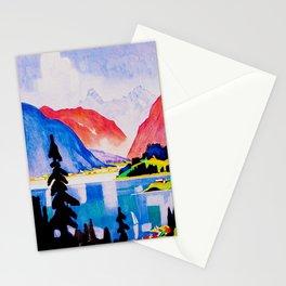Davos Switzerland - Vintage Travel Stationery Cards