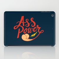 ass iPad Cases featuring Ass Power by Chris Piascik