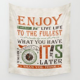Now Is The Time Wall Tapestry