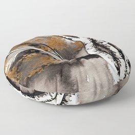 Black and Gold Birch Floor Pillow